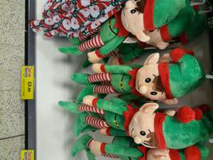 Medium sized elves.  £3.99 at home bargains.