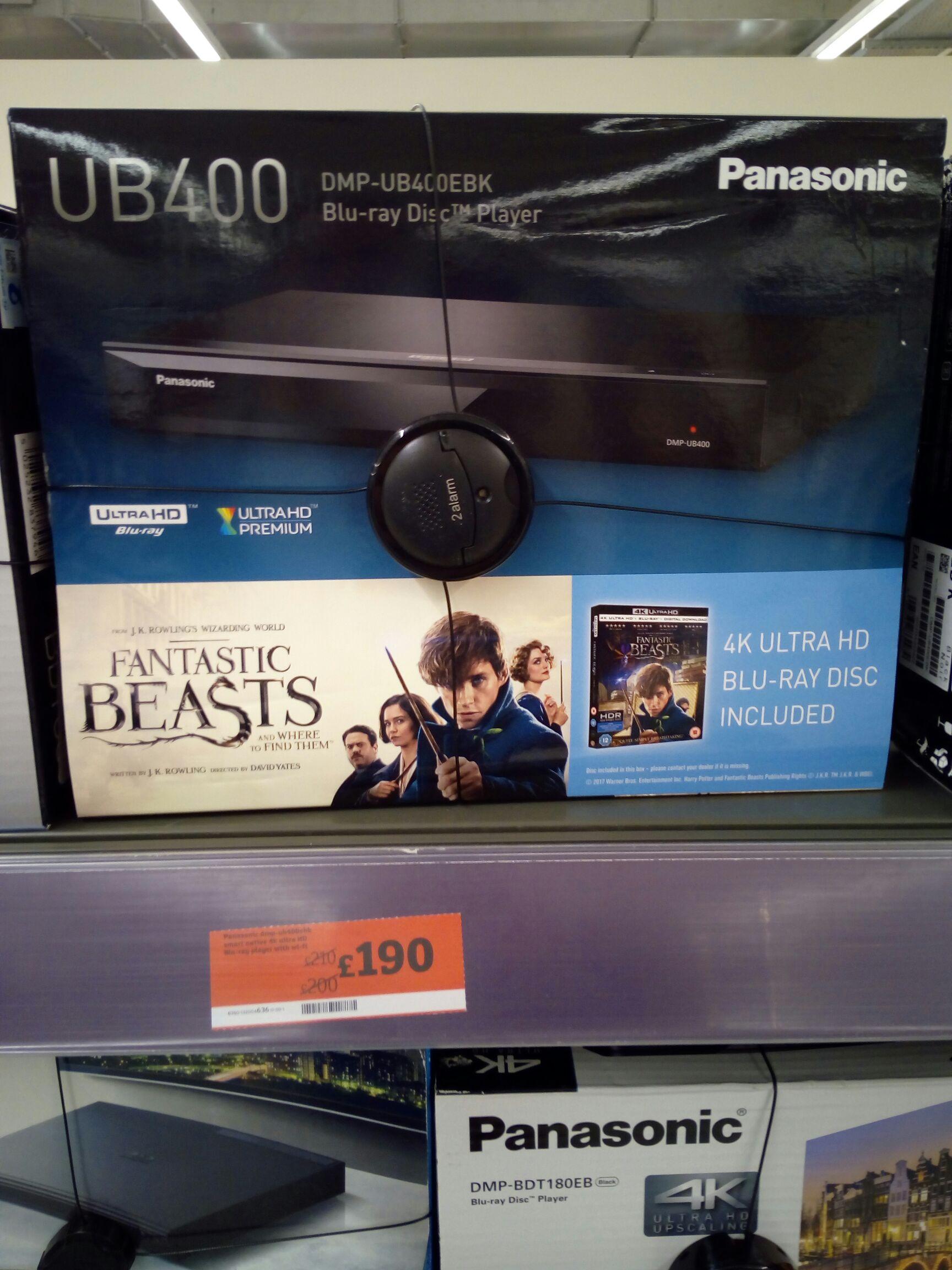 Panasonic UB400 4k UHD Player £190 instore Sainsbury's -  Wandsworth