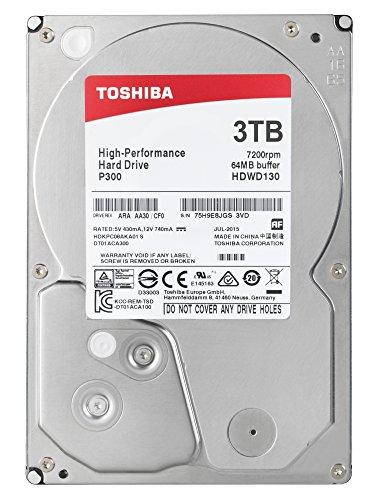 "Toshiba P300 3TB 7200RPM 3.5"" SATA at Amazon for £67.88"