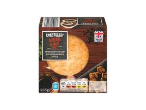 Chef Select Steak and Ale Puff Pastry Pie (235g) Only 85p @ Lidl