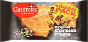 Ginsters Extra Large Cornish Pasty (284g) was £2.10 now £1.05 @ Tesco