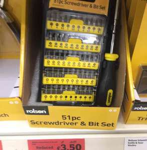 Rolson 51 pc Screwdriver & bit set £3.50 @ Sainsbury's - Blackheath