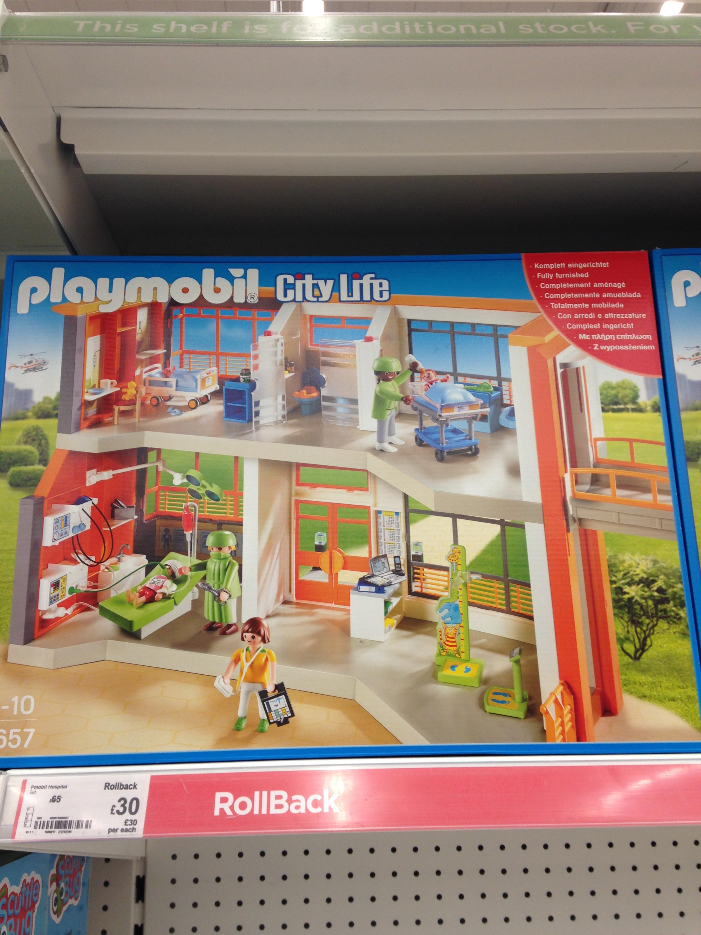 Playmobil City Life Hospital £30 instore Asda