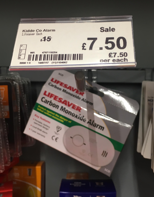 Kiddie carbon monoxide alarm £7.50 instore @ Asda (Pontefract)