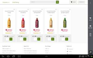 Innocent smothies 750ml  half price in waitrose - £1.50