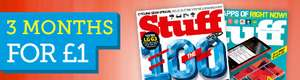 Stuff Mag with free gift 3 issues £1