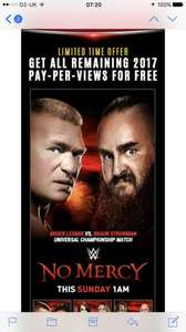 WWE Network - Free remaining Pay Per Views 2017