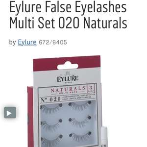 Eylure naturals multi pack false eyelashes down to £4.99 in Argos