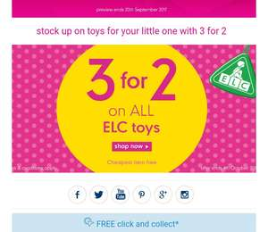 Mothercare toys 3 for 2