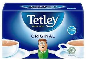 Tetley Original 240 Teabags 750G is £2.50 @ Tesco (From Tomorrow)