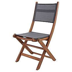 Solid Wood & Mesh Folding Chair (garden) - £15 for pair at Tesco