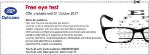 Free Eye Test @ Vision Express and Boots
