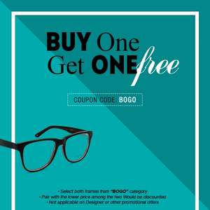 Goggles4u - Buy One Get One Free - Frames + lenses as low as £6.95 (£5.95 del)