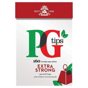 PG tips Extra Strong Pyramid Teabags, (160 = 464g) ONLY £1.08 @ Dispatched from and sold by AmazonFresh.