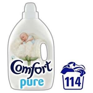 Comfort Pure Fabric Conditioner (114 Washes = 4L) Half Price Was £8.00 Now £4.00 @ Tesco