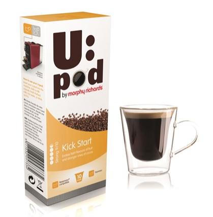U:POD Nespresso Pods 10 for £1.28 ALL VARIETIES, 11.5p per pod after cashback! @ Morphy Richards - Spend over £12.50 for free delivery