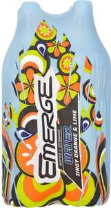 Emerge Water & Vitamins Zingy Orange & Lime 4 x 500ml) was £2.00 now Only £1.25 @ Sainsbury's