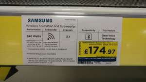 HALF RRP Instore at Currys - SAMSUNG HW-K551 3.1 Wireless Sound Bar £174.97 @ Currys