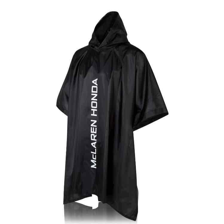 McLaren Honda Team Womens Ladies Poncho Black Waterproof Hooded Jacket Formula 1 £5 @ Ebay McLaren