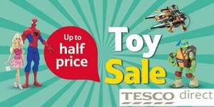 Tesco in store up to half price toys