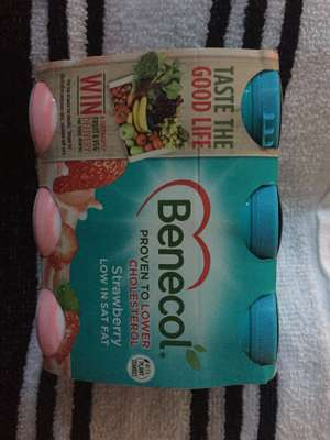 Benecol 6 pack strawberry / original yogurt drinks 69p in Heron