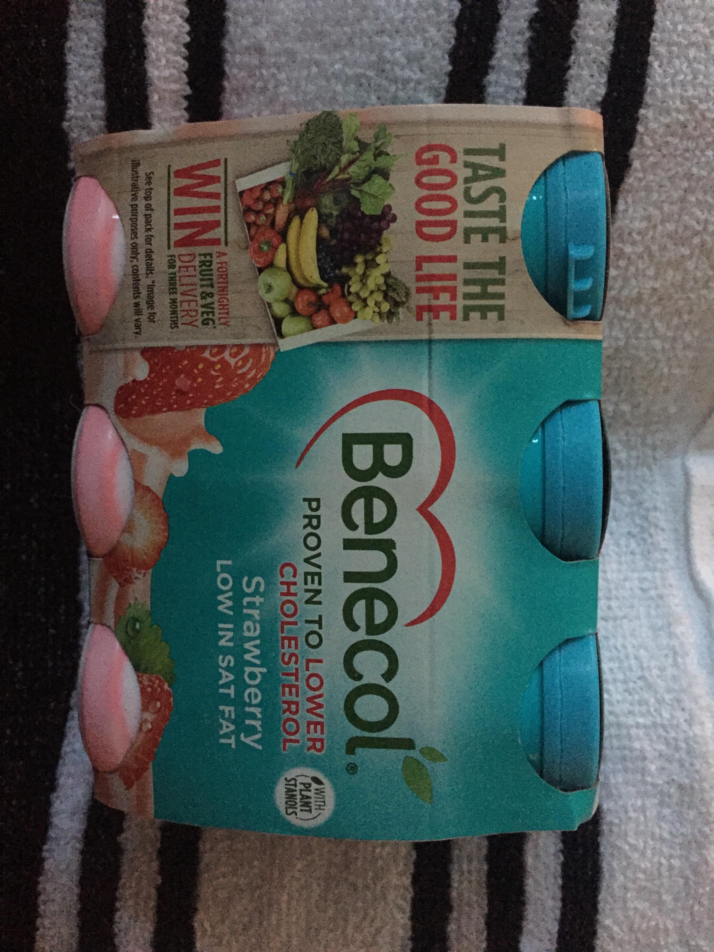 Benecol 6 pack strawberry / original yogurt drinks 69p in Heron