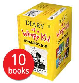 Diary of a Wimpy Kid Collection - 10 Books Collection (£10 + £2.95 delivery) - £10 if spending over £25 @Book People
