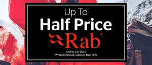 Up to Half Price on Rab clothing - Go Outdoors