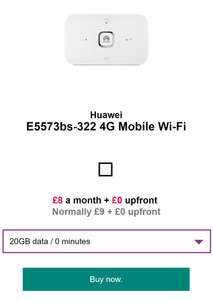 three 20gb data with mifi existing customer offer £8 per month / 24mth   + 2000 3to3 minutes and go binge and feel at home