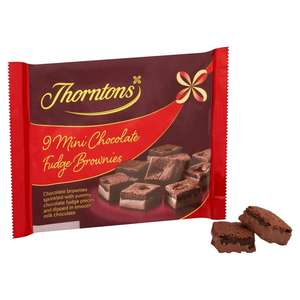 9 Thornton's Chocolate Fudge Brownies/ Caramel Chocolate Shortbread - 74p Co-op instore