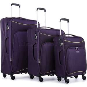 Antler Zeolite 3 Piece Suitcase Set (Purple) £119