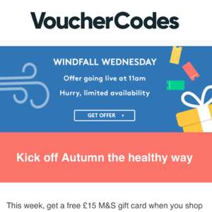 Free £15 M&S gift card when you shop at Holland and Barrett @ Vouchercodes