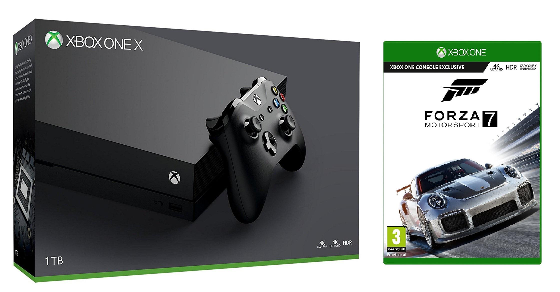 Pre-order Microsoft Xbox One X 1TB Console + Forza Motorsport 7 £463.99 @ Tesco Direct