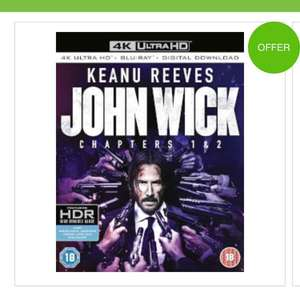 john wick 1+2 4k ultra HD £22.50 at Zavvi with code