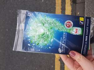 Free persil sample - given out in Leeds train station today