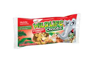 Wildlife Choobs Strawberry Flavour Yogurt or Variety pack Both Free From: Gluten (6 x 40g) was £1.00 now 2 packs for the same £1.00 price (7 Day Deal) @ Iceland
