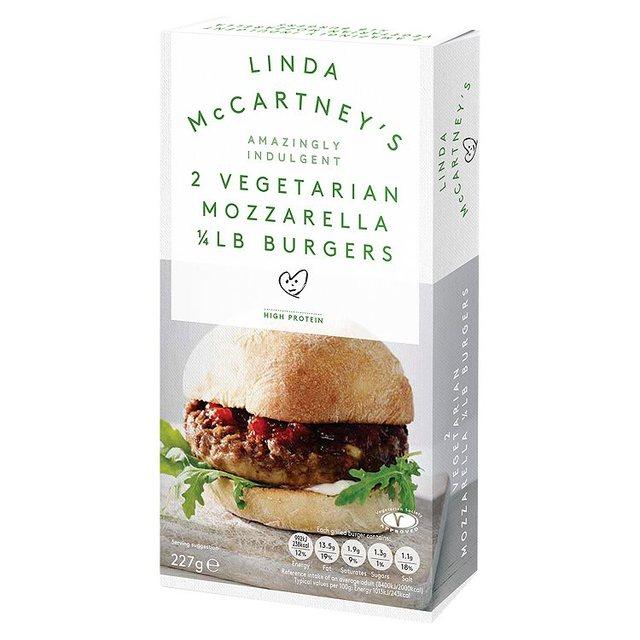 Linda McCartney Mozzarella Quarter Pounder Burger (2 x 113g) was £1.97 now £1.00 @ Morrisons