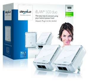 devolo dLAN 500 duo Powerline Starter Kit (500 Mbps, 2 LAN ports) £24.99 @ Amazon