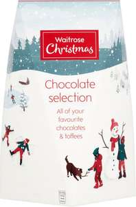 Waitrose Christmas Large Chocolate & Toffee Selection Box (800g) ONLY £1.00 @ Ocado