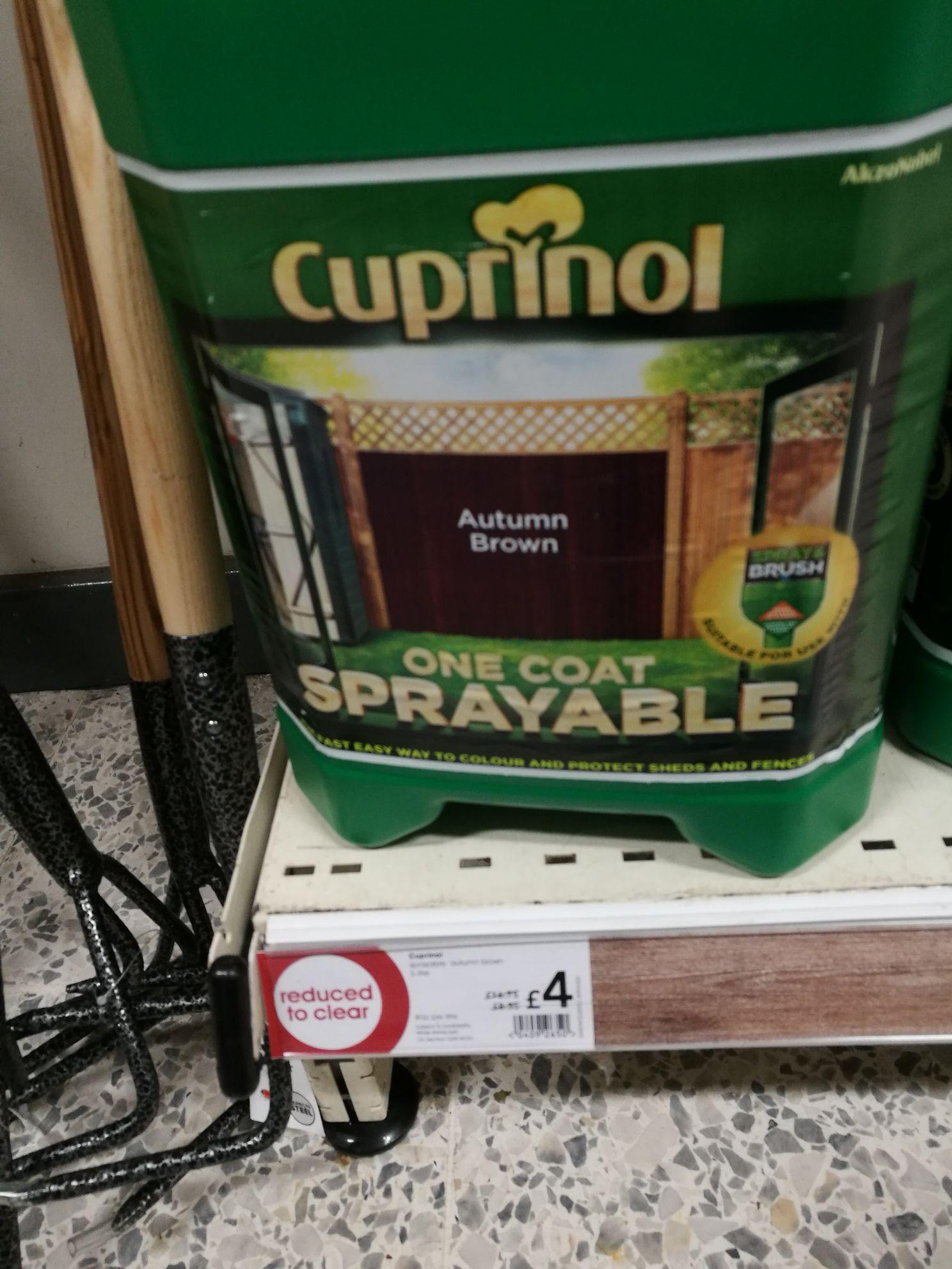 Cuprinol One Coat Sprayable Autumn Brown - £4 at Wilkos In-store Only