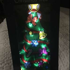 45cm light up Christmas tree 99p In store home bargains