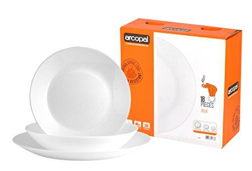 Cheaper Corelle Alternative? Luminarc/Arcopal Zelie Set of 18 Tableware, White, £14.38 + Free Delivery @ Dealsdirect247 Amazon