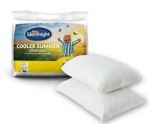 Silentnight Cooler Summer Pillow (Pack of 2) ONLY £7.00 @ B&Q