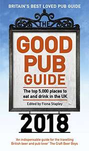 The Good Pub Guide 2018 - paperback £5.99 delivered with Prime / £8.98 non prime @ Amazon
