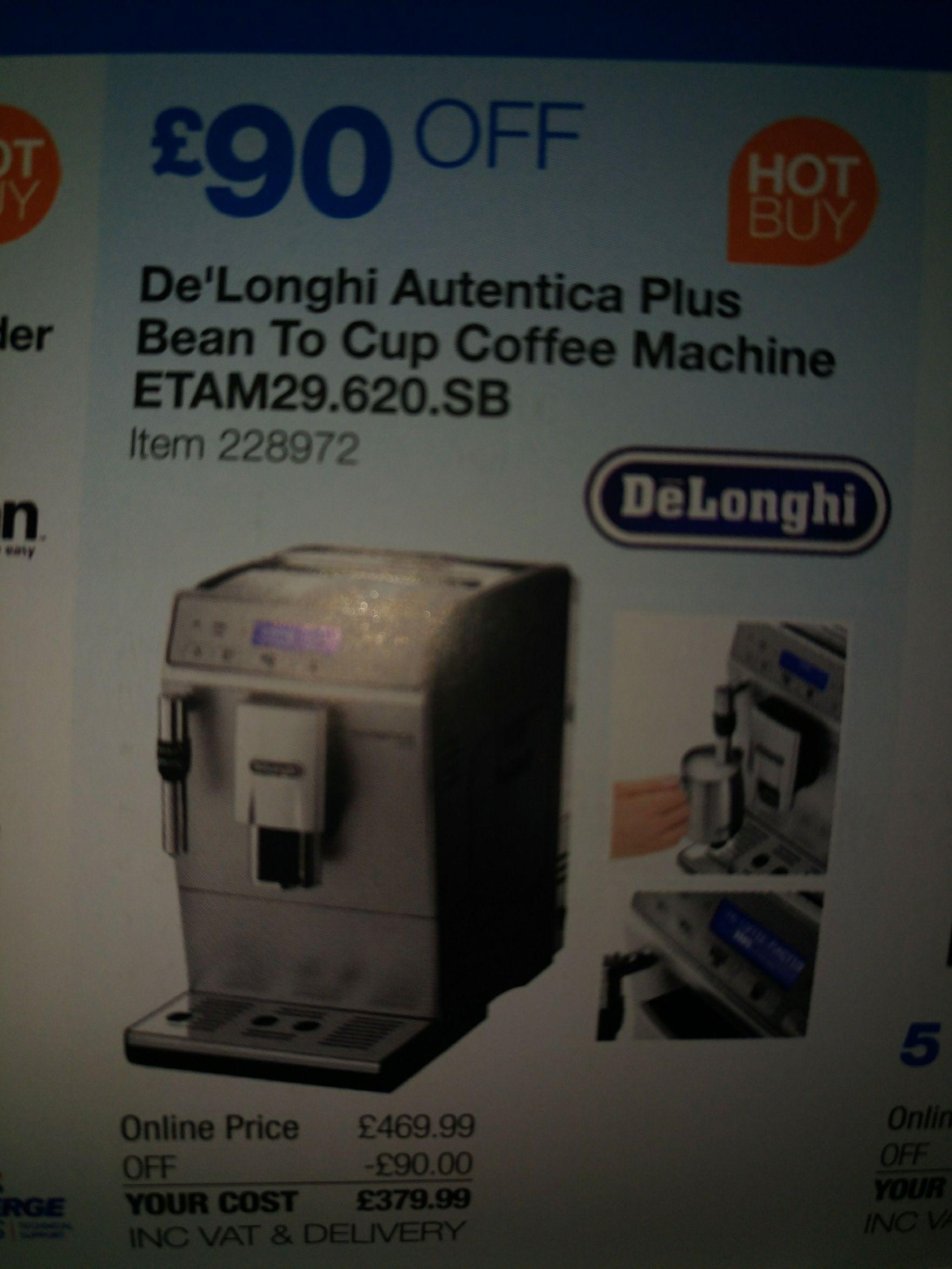 Delonghi Autentica Plus Bean ETAM29.620.SB £379.99 @ Costco