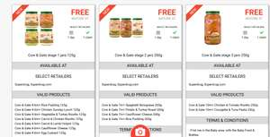 CheckoutSmart - 3 free jars of Cow & Gate baby food. Superdrug only.