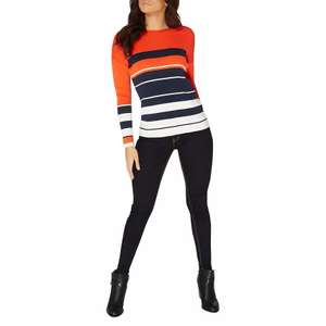 Dorothy Perkins - Orange and navy stripe jumper £20 from Debenhams