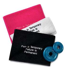 Sports Embroidered Pink Gym Towel / Flannel £2 Prime / £5.99 Non Prime @ Amazon