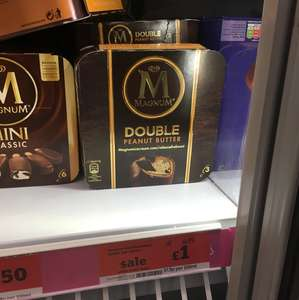 Magnum! DOUBLE peanut butter £1 instore @ Sainsbury's Local Edgeware Station