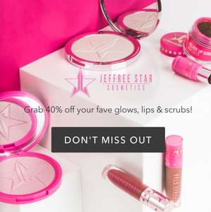 40% off Jeffree Star selected cosmetics at beauty bay - plus free P&P on orders over £15